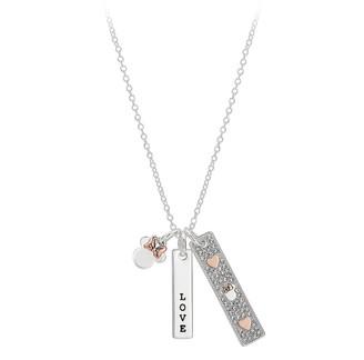 Disney Minnie Mouse ''Love'' Bar Necklace