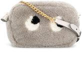 Anya Hindmarch shearling eyes crossbody bag