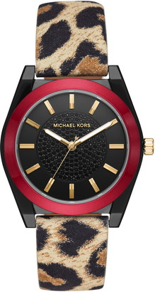 Michael Kors Channing Leather Strap Watch, 40mm