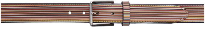 Paul Smith Multicolor Signature Stripe Belt