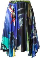 Julien David printed draped skirt