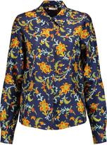 Oscar de la Renta Printed silk blouse
