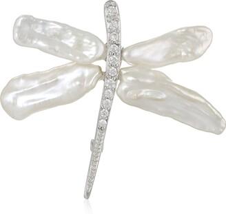Bella Pearl Keshi Pearl Dragonfly Brooches and Pins