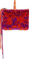 Roksanda Purple & Orange Knit Wool Clutch