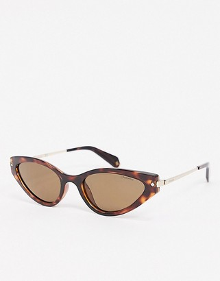 Polaroid X Love Island oval sunglases in tortoise shell