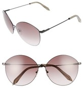 Victoria Beckham Women's Feather Kitten 64Mm Sunglasses - Black/ Purple