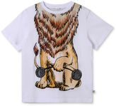 Stella McCartney white arrow lion print t-shirt