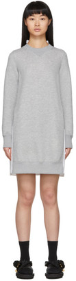 Sacai Grey Sponge Sweat Dress