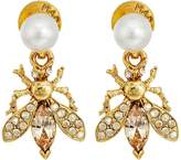 Oscar de la Renta Bug Button C Earrings Earring