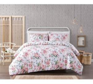 Pem America Cottage Classics Blooms Floral Seersucker 3-Piece King Duvet Set Bedding
