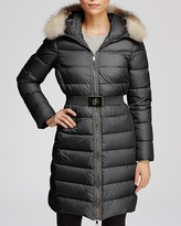 Moncler Fabrefox Belted Down Coat