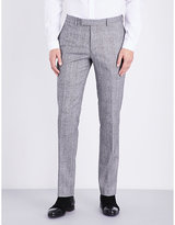 Sandro Slim-fit Wool And Cotton-blend Trousers