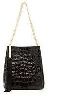 Giuseppe Zanotti Croc-Embossed Leather Bucket Bag