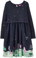 Joules Little Joule Girls' Jersey Scene Print Dress, Navy