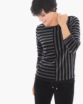 Chico's Velour Stripe Top