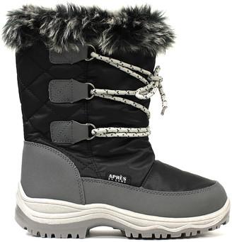 Lamo Cold Weather Boots Black - Black Contrast Boot - Kids
