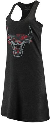 Majestic Women's Threads Black Chicago Bulls Camo Pop Tri-Blend Racerback Sleeveless Dress