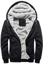 Rocky Sun Men Winter Hooded Jacket Hoodie Faux-Fur Lined Warm Coat 2XL