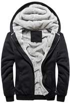 Rocky Sun Men Winter Hooded Jacket Hoodie Faux-Fur Lined Warm Coat S