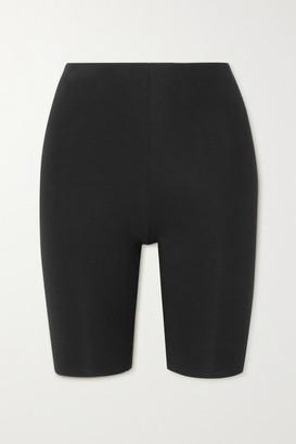 Skin Aphrodite Stretch Organic Pima Cotton-jersey Shorts - Black