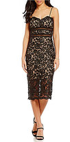 Xscape Evenings Sleeveless Lace Midi Sheath Dress