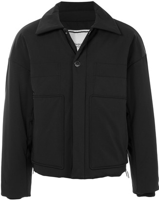 Wooyoungmi Point-Collar Padded Bomber Jacket
