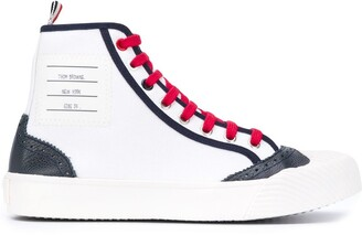 Thom Browne Logo Patch Brogue Sneakers