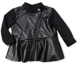 kardashian kids (Newborn/Infant Girls) Perforated Faux Leather Jacket