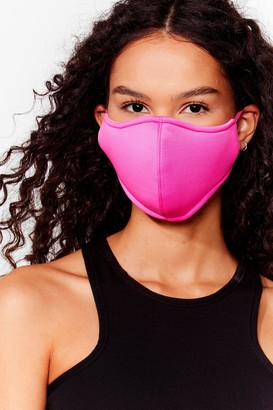 Nasty Gal Womens Let's Talk Fashion Face Mask - Pink - ONE SIZE, Pink