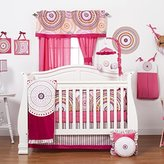 One Grace Place Sophia Lolita Infant Crib Bedding Set, White/Pink/Berry/Black by