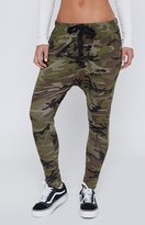Beginning Boutique Guerrilla Combat Drop Crotch Pants Camo