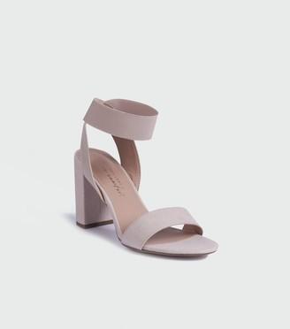New Look Suedette Elastic Ankle Strap Block Heels