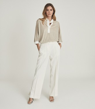 Reiss PENELOPE FINE JERSEY RUGBY TOP Neutral