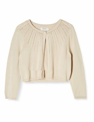 Only Women's Onlilla 3/4 Short Cardigan KNT Sweater