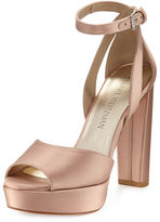 Stuart Weitzman Hijinx Satin Platform Sandal