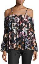 Parker Pyper Cold-Shoulder Floral-Print Blouse