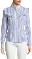Plenty by Tracy Reese Women's Ruffle Cotton Blouse
