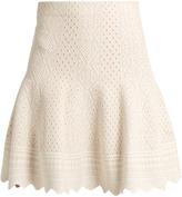 Alexander McQueen Lace-jacquard mini skirt