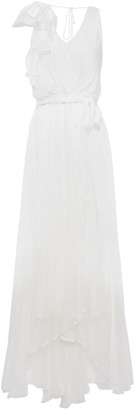 Temperley London Lullaby Layered Wrap-effect Ruffled Silk-chiffon Maxi Dress
