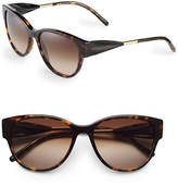 Burberry 56mm Gabardine Cat-Eye Sunglasses