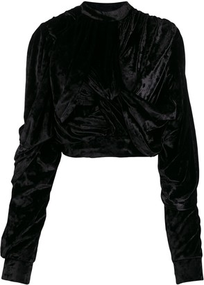 Y/Project Crushed Velvet Top