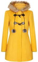Yumi Duffle Coat With Pom-Poms