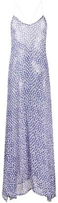 Zadig & Voltaire Star Print Sheer Silk Beach Dress