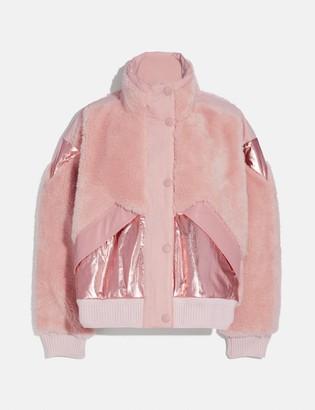 Coach Pieced Fleece Jacket