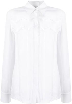 Gabriela Hearst Cut-Out Lace Shirt