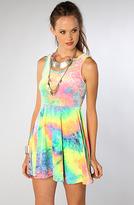 See You Monday The SYM Tie Dye Velvet Dress