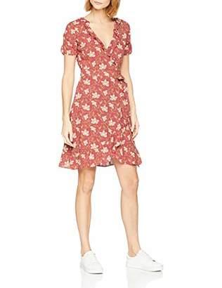 Fat Face Women's Greta Wrap Stitchwork Dress, Cranberry Red