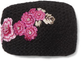 Jennifer Behr Embroidered Knitted Headband - Black