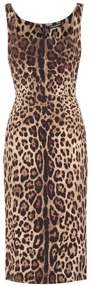 Dolce & Gabbana Leopard-print stretch-silk dress