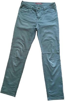 Comptoir des Cotonniers Green Cotton Trousers for Women